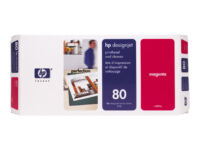 HP 80 - 17 ml - magenta - printhead with cleaner - for DesignJet 1050c, 1050c...
