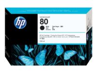 HP 80 - 350 ml - black - original - ink cartridge - for DesignJet 1050c, 1050...