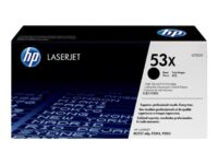 HP 53X - High Yield - black - original - LaserJet - toner cartridge (Q7553X) ...