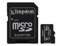 Kingston Canvas Select Plus - Flash memory card (microSDXC to SD adapter incl...