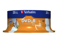 Verbatim - 25 x DVD-R - 4.7 GB 16x - wide photo printable surface - spindle
